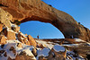 Mark Gromko and Mark Rasmussen at Wilson Arch - Arches National Park, Utah - Paul Riewerts - December 2013
