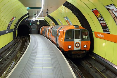 Glasgow Subway train No  129 arrives at West Street with an Outer service on 1 October 2020  GlasgowSubway