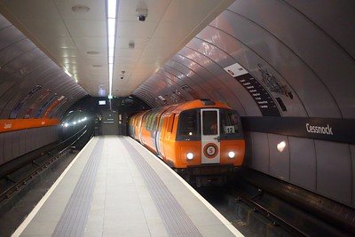 127 with an Inner circle service on the Glasgow subway at Cessnock on the 22nd September 2018