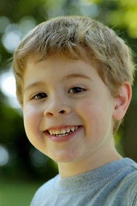 Stock image of young boy smiling