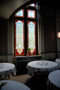Stock image of the dining room of the historic and elegant Cardome Centre in Georgetown Kentucky.