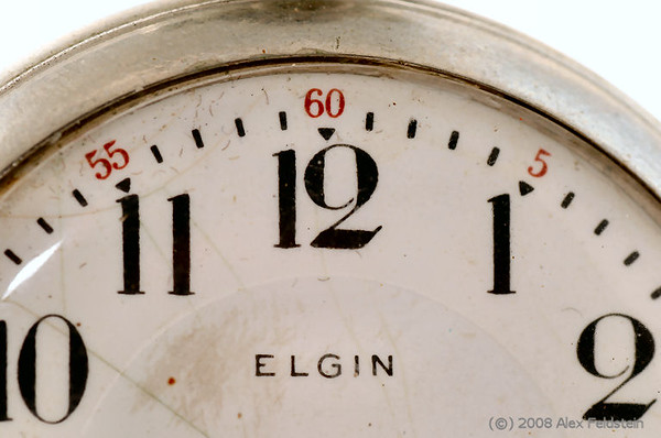 Elgin pocket watch (detail)