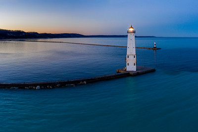 Lighthouse Dawn Aerial