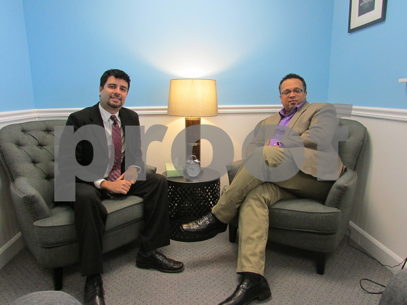 Counselor David Barreto (left) and Director of Clinical Services Joel Filmore opened the Lighthouse Professional Counseling Center, 2535 Bethany Road in Sycamore, in July.