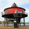 Seven Foot Knoll Lighthouse (1855),Baltimore, MD (moved from Patapsco River in 1988)