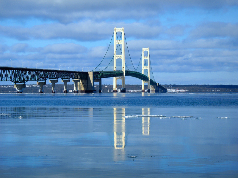 Mackinac Bridge Reflections