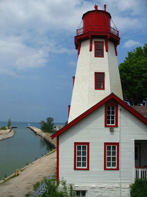 Kincardine - This is one of the most photogenic little lighthouses I've ever visited. The structure was constructed over Kincardine Harbor in 1881 and is literally built into the hillside. The keepers building houses a nice little museum and you can climb the tower for a small fee.