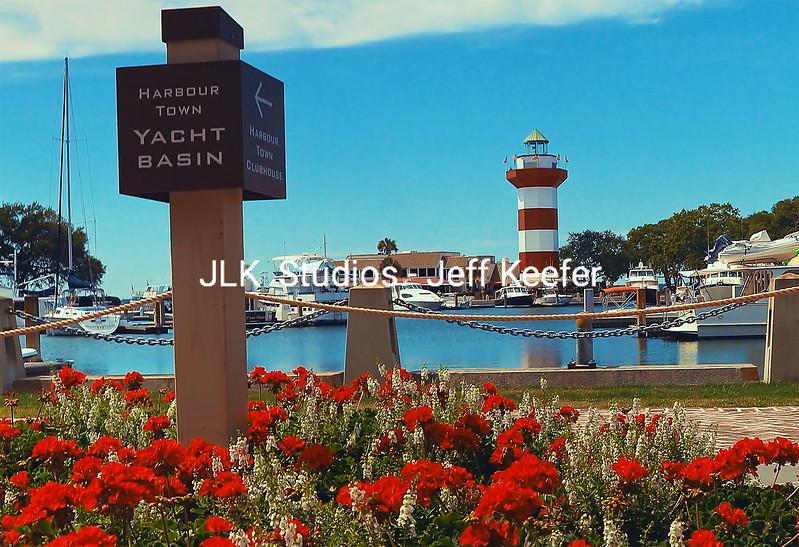 14. yacht basin sign and lighthouse