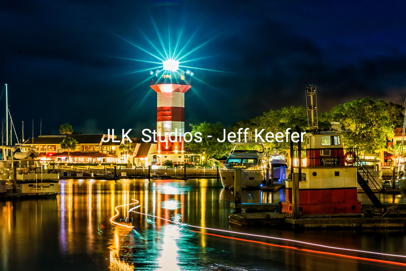 4..  Night with light trails at Lighthouse -canvas available