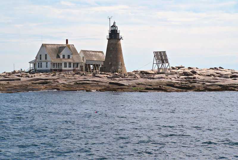 Located 26 miles out in the ocean Mount Desert Rock was considered the most exposed and isolated of all Maine lighthouse stations.