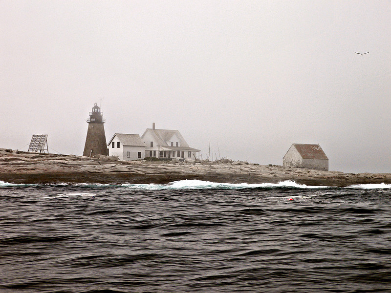 This picture of the light station was taken in 2007.  You can see the boathouse to the right and the generator building between the tower and Keepers house.