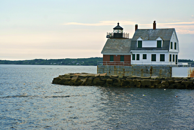 Rockland Breakwater Light, built at the end of the breakwater in 1902.