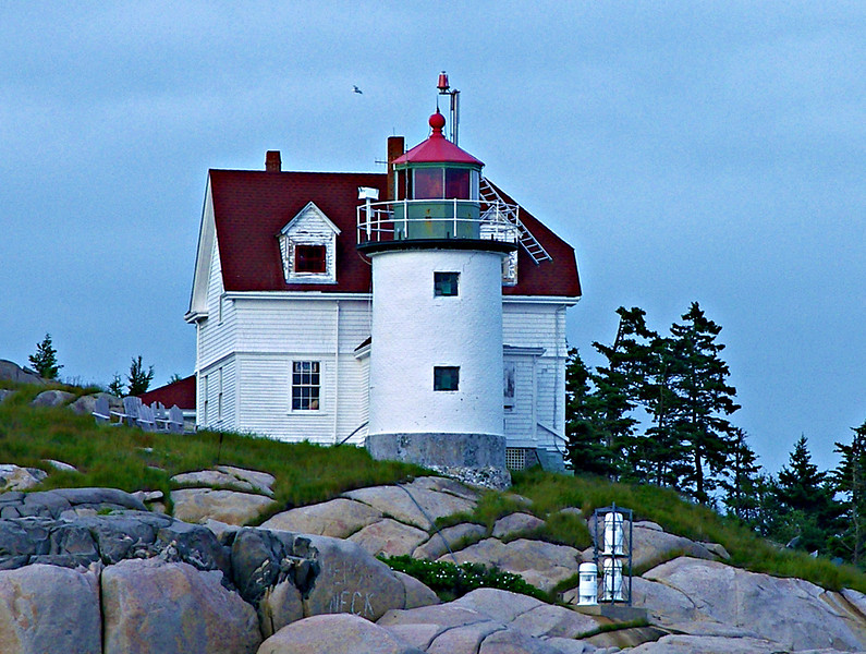 Heron Neck Light served as the impetus for the Maine Lights Program.