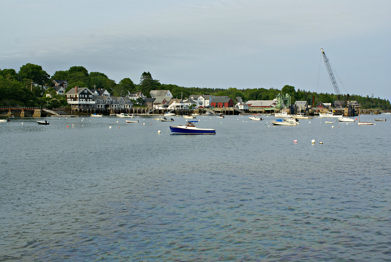 A view of the Fox Thoroughfare and the port on North Haven Island
