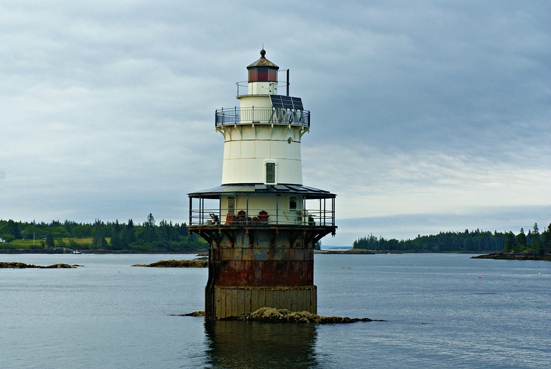 You can rent out the Goose Rocks Light for a unique getaway.  It is one of four caisson lights erected in Maine.