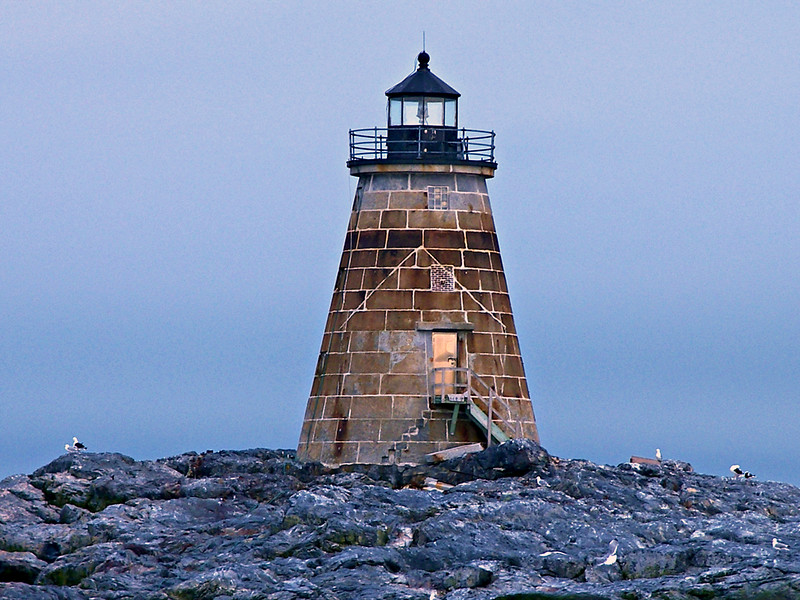 Believe it or not, Saddleback Ledge Light was a family station in the past.  A dwelling was attached to the tower.