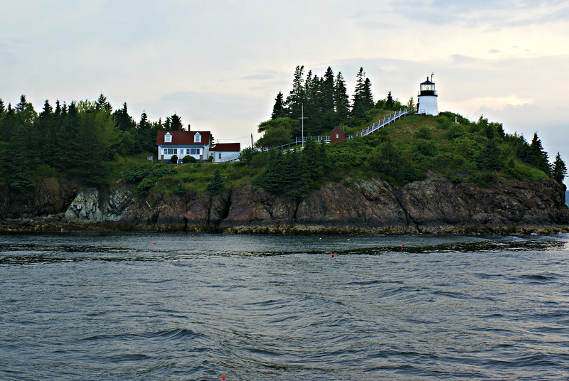 Owls Head Light marking the southern approach to Rockland Harbor.