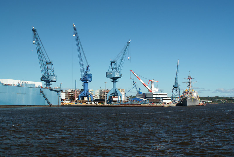 Bath Iron Works where Naval ships are built
