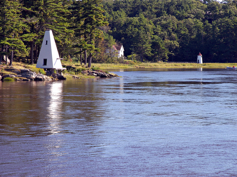 Kennebec River Front Range Light and the Fiddlers Reach Fog Signal building