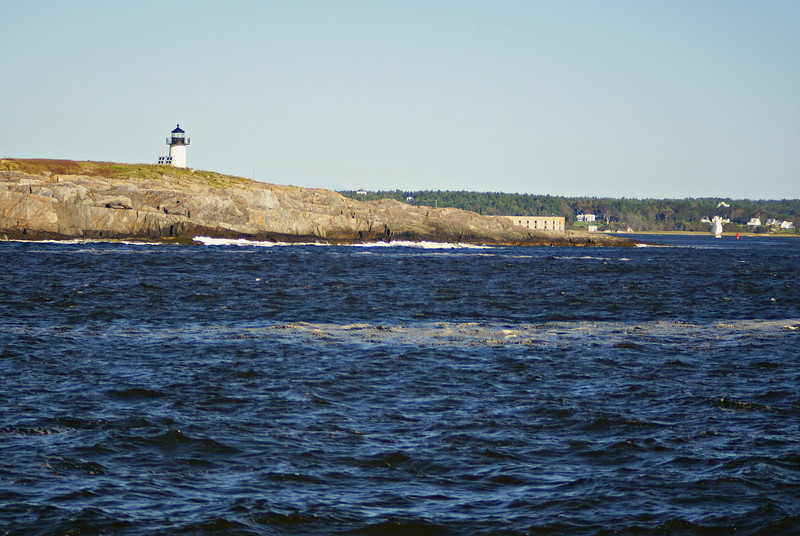 Pond Island Light at the entrance to the Kennebec River