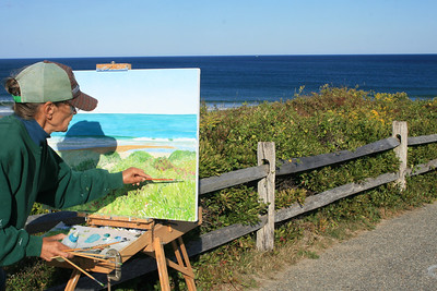 Artist painting Nauset Beach