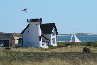 Stage Harbor Lighthouse, also known has Harding Beach Light is now a private residence.