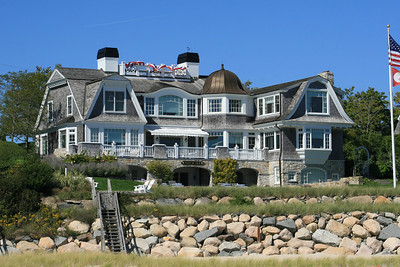 One of the many gorgeous homes along the cape.
