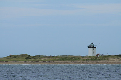 Wood End Lighthouse, Cape Cod, MA.  If you look closely you can see Race Point lighthouse behind Wood End Light.