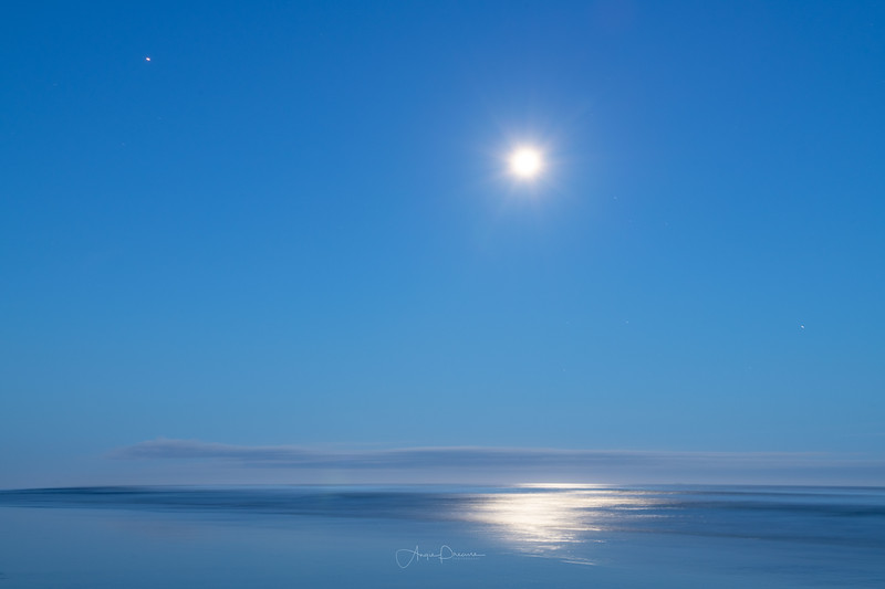 Cannon Beach Oregon ~ Moon & Venus
