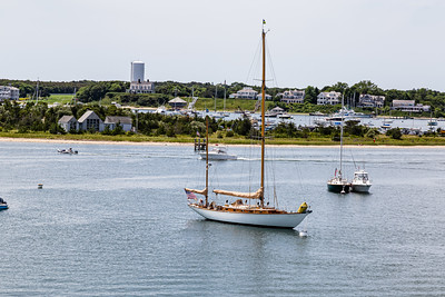 Boats in the Edgartown Harbor Martha's Vineyard, MASS, USA