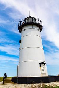 Close up Edgartown Harbor Martha's Vineyard lighthouse