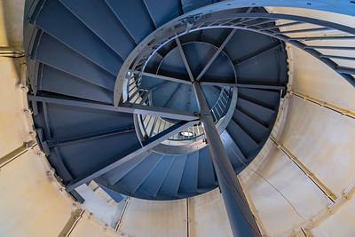 Spiral staircase Edgartown Harbor Lighthouse, Martha's Vineyard MASS, USA