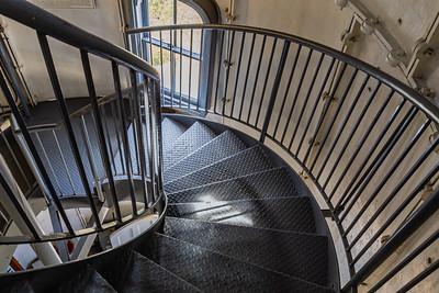 Spiral staircase Edgartown Harbor Lighthouse, Martha's Vineyard MASS,