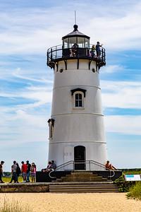 Close up Edgartown Harbor Lighthouse