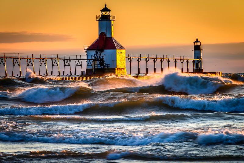 Lighthouse & Waves