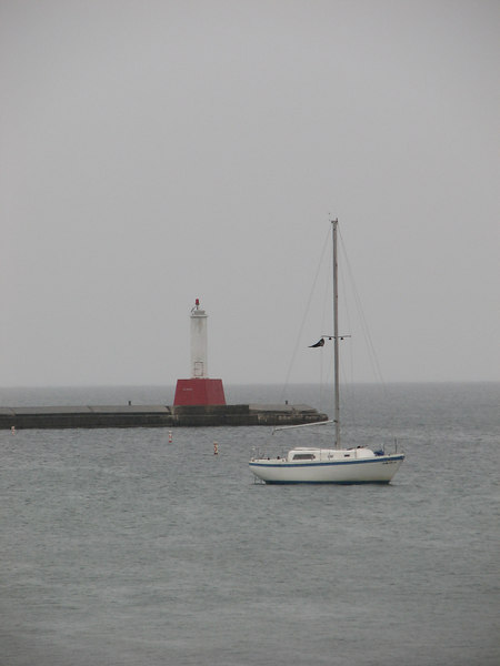 Petosky Lighthouse in the rain