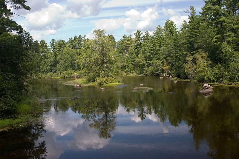 A pretty river in Wisconsin