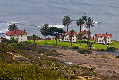 "New Point Loma Lighthouse.  One of the scens in the movie ""Top Gun"" was shot here."