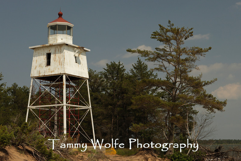 Chequamegon Point Lighthouse, Long Island, Wisconsin