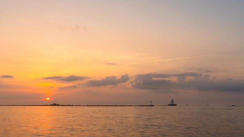 Cleveland Harbor Sunset