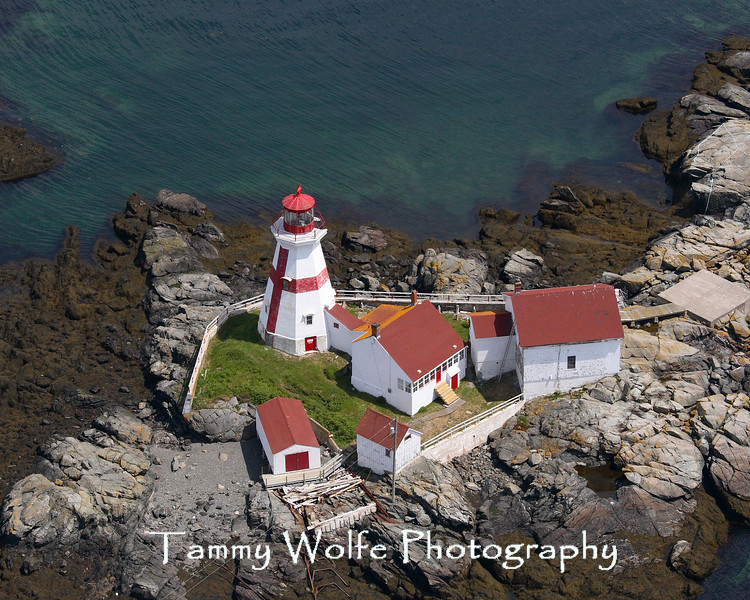 East Quoddy Head Lighthouse on Campobello Island, Canada (Aerial View) (Photo # 6834)