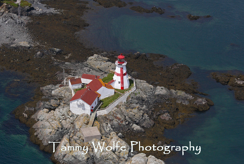 East Quoddy Head Lighthouse on Campobello Island, Canada (Aerial View)