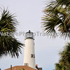 Cape St. George Lighthouse: This lighthouse is a 74-foot high brick lighthouse which had originally stood for 153 years on St. George Island, Florida, until toppling into the Gulf of Mexico October 22, 2005. The pieces of the lighthouse were retrieved, and in April 2008, the light's restoration was completed.