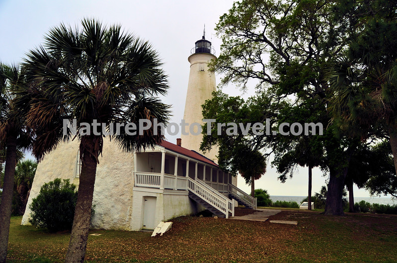 St. Marks Lighthouse: This lighthouse is the second-oldest light station in Florida. It is located on the east side of the mouth of the St. Marks River, on Apalachee Bay.