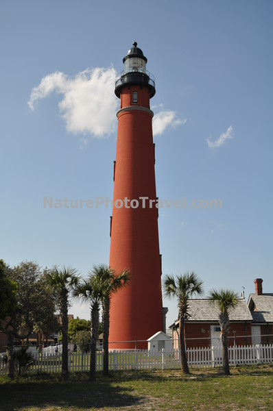 Ponce Inlet Lighthouse: The Ponce de Leon Inlet Light is a lighthouse and museum located at Ponce de León Inlet in Northern Florida. At 175 feet (53 m) in height, it is the tallest lighthouse in the state and the one of the tallest in the United States It is located between St. Augustine Light and Cape Canaveral Light. Completed in 1887, the Ponce de Leon Inlet Light Station was built when the area was known as Mosquito Inlet.