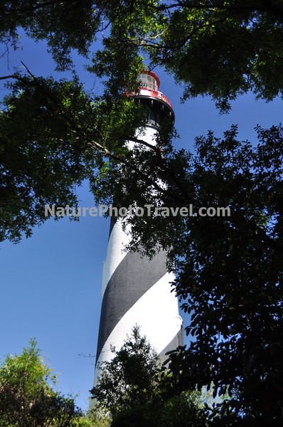 "St. Augustine Lighthouse: The St. Augustine Light is an active lighthouse on the north end of Anastasia Island, within the current city limits of St. Augustine, Florida. The tower, built in 1874, was the site of the first lighthouse established in Florida by the new, territorial, American Government in 1824. According to some archival records and maps, this ""official"" American lighthouse was placed on the site of an earlier watchtower built by the Spanish as early as the late 16th century."