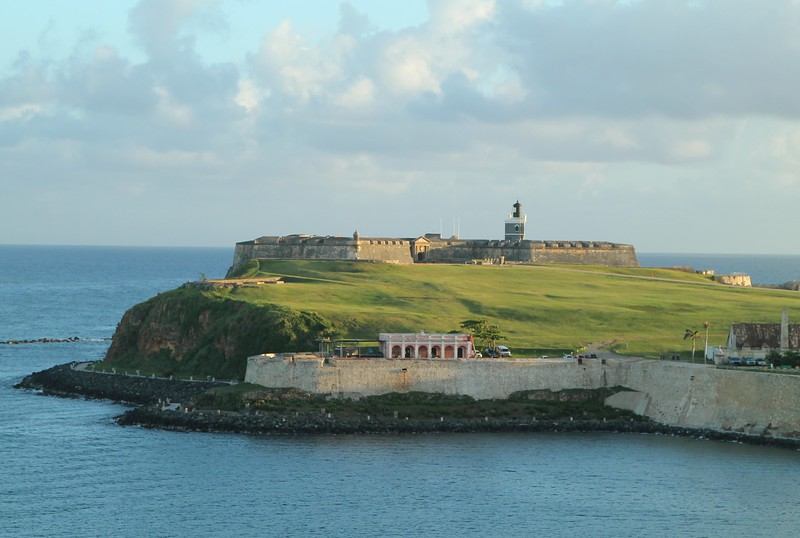 Lighthouse atop Castillo San Felipe Del Morro in San Juan, Puerto Rico