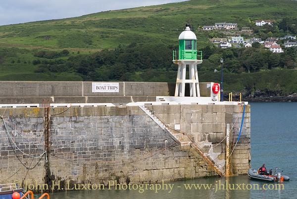 Raglan Pier and Lighthouse, Port Erin, Isle of Man - July 02, 2017