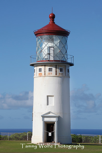 Kilauea Lighthouse in the final stage of restoration