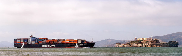 Container Ship vs. Alcatraz